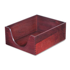 Hardwood Letter Stackable Desk Tray, Mahogany