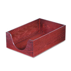 Hardwood Legal Stackable Desk Tray, Mahogany