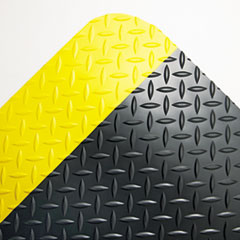 COU ** Industrial Deck Plate Anti-Fatigue Mat, Vinyl, 36 x 60, Black/Yellow B at Sears.com