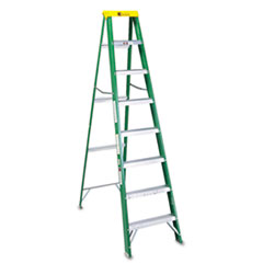 COU ** #592 Eight-Foot Folding Fiberglass Step Ladder, Green/Black at Sears.com