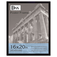 FLAT FACE WOOD POSTER FRAME W/PLEXIGLAS WINDOW, 16 X 20,