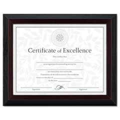MotivationUSA * Solid Wood Award/Certificate Frame, 8-1/2 x 11, Black w/Walnut Trim at Sears.com