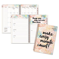 B-Positive Desk Week/Month Planner, Make Every Minute Count, 4 7/8 x 8, 2018