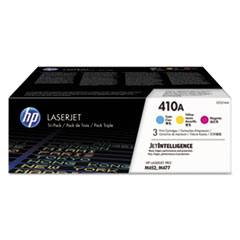 410A 3-pack Cyan/Magenta/Yellow Original LaserJet Toner Cartridges, 3/PK