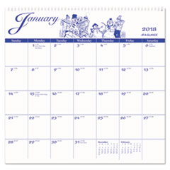 12-Month Illustrator's Edition Wall Calendar, 12 x 11 3/4, Illustrations, 2018