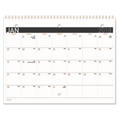 Contemporary Small Monthly Desk/Wall Calendar, 11 x 8 1/2, 2018