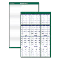 Vertical Erasable Wall Planner, 24 x 36, 2018