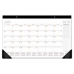 Contemporary Compact Desk Pad, 17 3/4 x 10 7/8, 2018