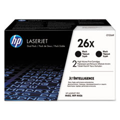26X 2-pack High Yield Black Original LaserJet Toner Cartridges, 9000 Page-Yield