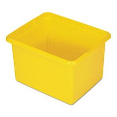 Organizing Bin, 30qt, 17 1/2w x 11d x 14h, Yellow