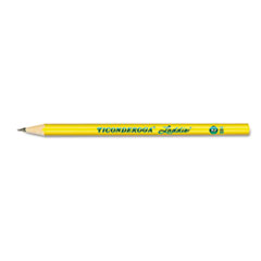 Ticonderoga Laddie Woodcase Pencil w/o Eraser, HB #2, Yellow Barrel, Dozen