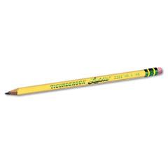 Ticonderoga Laddie Woodcase Pencil w/ Eraser, HB #2, Yellow Barrel, Dozen