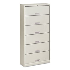 600 Series Steel Open Shelving, Six-Shelf, 36w x 13-3/4d x 75-7/8h, Light Gray
