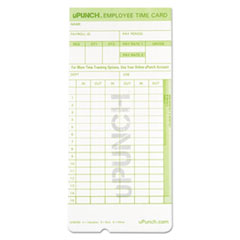 time card for upunch hn1000 hn3000 hn3600 bundle 100pk georgia industries for the blind - Upunch Time Cards