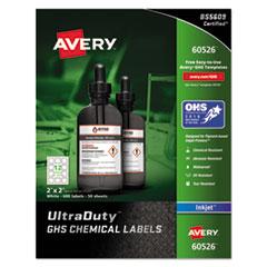 Easy Peel UltraDuty GHS Chemical Labels, Inkjet, 2 x 2 , 600/Pack