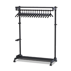 RAK MOBILE GARMENT RACK,  30 GARMENTS, BLACK ,