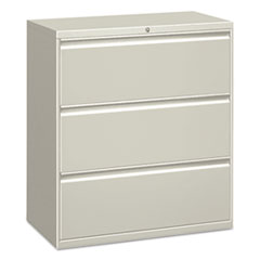 Three-Drawer Lateral File Cabinet, 30w x 18d x 39.5h, Light Gray