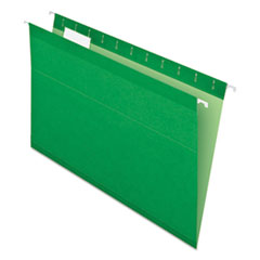 Colored Reinforced Hanging Folders, Legal Size, 1/5-Cut Tab, Bright Green, 25/Box