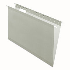 Colored Reinforced Hanging Folders, Legal Size, 1/5-Cut Tab, Gray, 25/Box