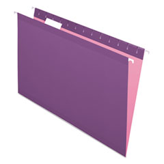 Colored Reinforced Hanging Folders, Legal Size, 1/5-Cut Tab, Violet, 25/Box