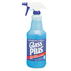"Glass Plus ""Glass Cleaner, 32oz Spray Bottle, 12/Carton"" at Sears.com"
