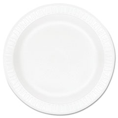 "Concorde Foam Plate, 10 1/4"" dia, White, 125/Pack, 4 Packs/Carton DCC10PWCR"