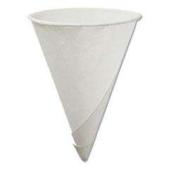 KONIE 4.5OZ ROLLED RIM PAPER CONE CUP WHITE BOXED 5000CS