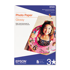 Glossy Photo Paper, 60 lbs., Glossy, 13 x 19, 20 Sheets/Pack