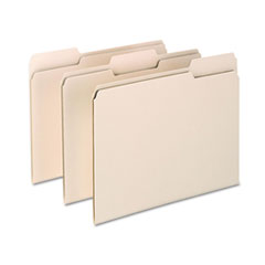 Archival Quality File Folders, 1/3 Cut Top Tab, Letter, Manila, 100/Box