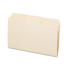 Essentials File Folders, 1/3 Cut Top Tab, Legal, Manila, 100/Box