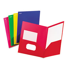 Fashion PolyPort Twin-Pocket Portfolio, Polypropylene, Assorted, 25/Box
