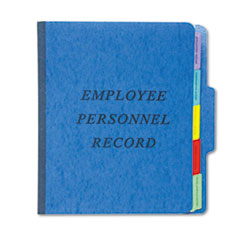 Vertical Personnel Folders, 1/3 Cut Top Tab, Letter, Blue