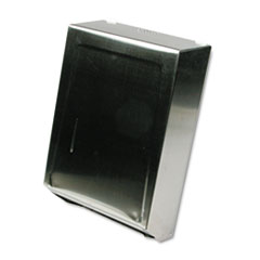 C-Fold or Multifold Towel Dispenser, 11 1/4 x 4 x 15 1/2, Stainless Steel