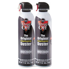 Disposable Compressed Gas Duster, 2 17oz Cans/Pack