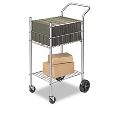 Economy Mail Cart, Two-Shelf, 20-1/2w x 38d x 36-1/2h, Chamois