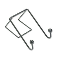 Partition Additions Wire Double-Garment Hook, 4 x 6, Black FEL75510