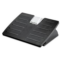 Adjustable Locking Footrest w/Microban, 17 1/2 x 13 1/8 x 5 5/8, Black/Silver FEL8035001