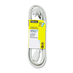 Indoor Heavy-Duty Extension Cord, 3-Prong Plug, 1-Outlet, 9ft Length, Gray