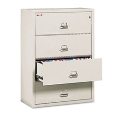 4-Drawer Lateral File, 37-1/2w x 22-1/8d, Letter/Legal, Parchment FIR43822CPA