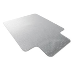 Cleartex Ultimat Polycarbonate Chair Mat for Low/Med Pile Carpet, 35 x 47, w/Lip