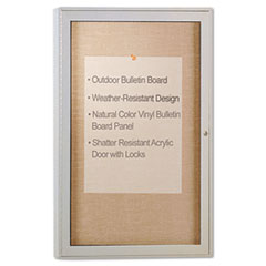 Enclosed Outdoor Bulletin Board, 36 x 24, Satin Finish