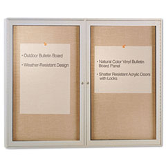 Enclosed Outdoor Bulletin Board, 48 x 36, Satin Finish