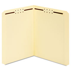 Manila Folders, Two Fasteners, Straight, Letter, 50/Box