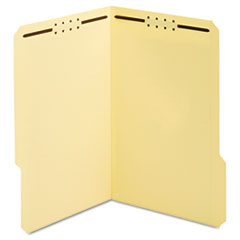 Manila Top Tab Fastener Folder, 1/3 Tab, Legal, 50/Box