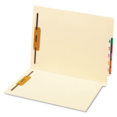 End Tab Folder, Two Fasteners, Straight Tab, Letter, 50/Box