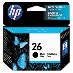 HP 26, (51626A) Black Original Ink Cartridge