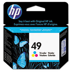 HP 49, (51649A) Tri-color Original Ink Cartridge