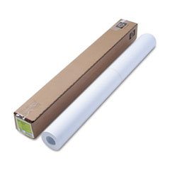 "Designjet Bright White Inkjet Paper, 4 mil, 36"" x 150 ft, White"