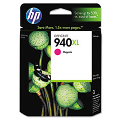 HP 940XL, (C4908AN) High Yield Magenta Original Ink Cartridge