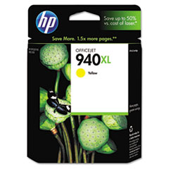HP 940XL, (C4909AN) High Yield Yellow Original Ink Cartridge